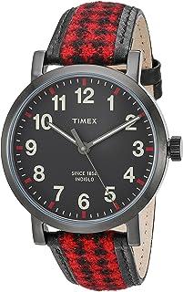 ساعة Timex أصلية للجنسين Houndstooth
