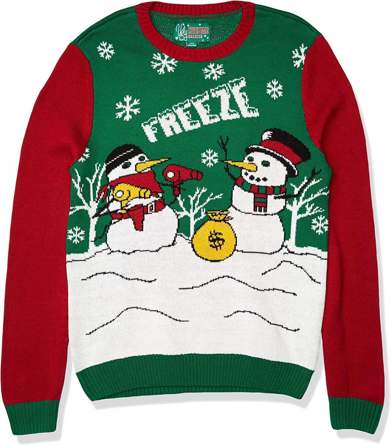 Ugly Christmas Sweater Manufacturer OFFicial shipfree shop Company Men's Assorted Sweaters Crew Neck