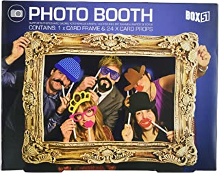 Photo Booth – Photo Frame with 24 Props for Party Photos