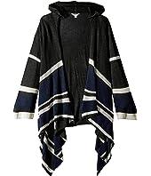 Hooded Cardigan w/ Stripe Detail (Big Kids)