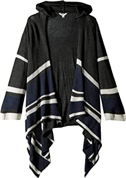 Hooded Cardigan w/ Stripe Detail (Big Kids)
