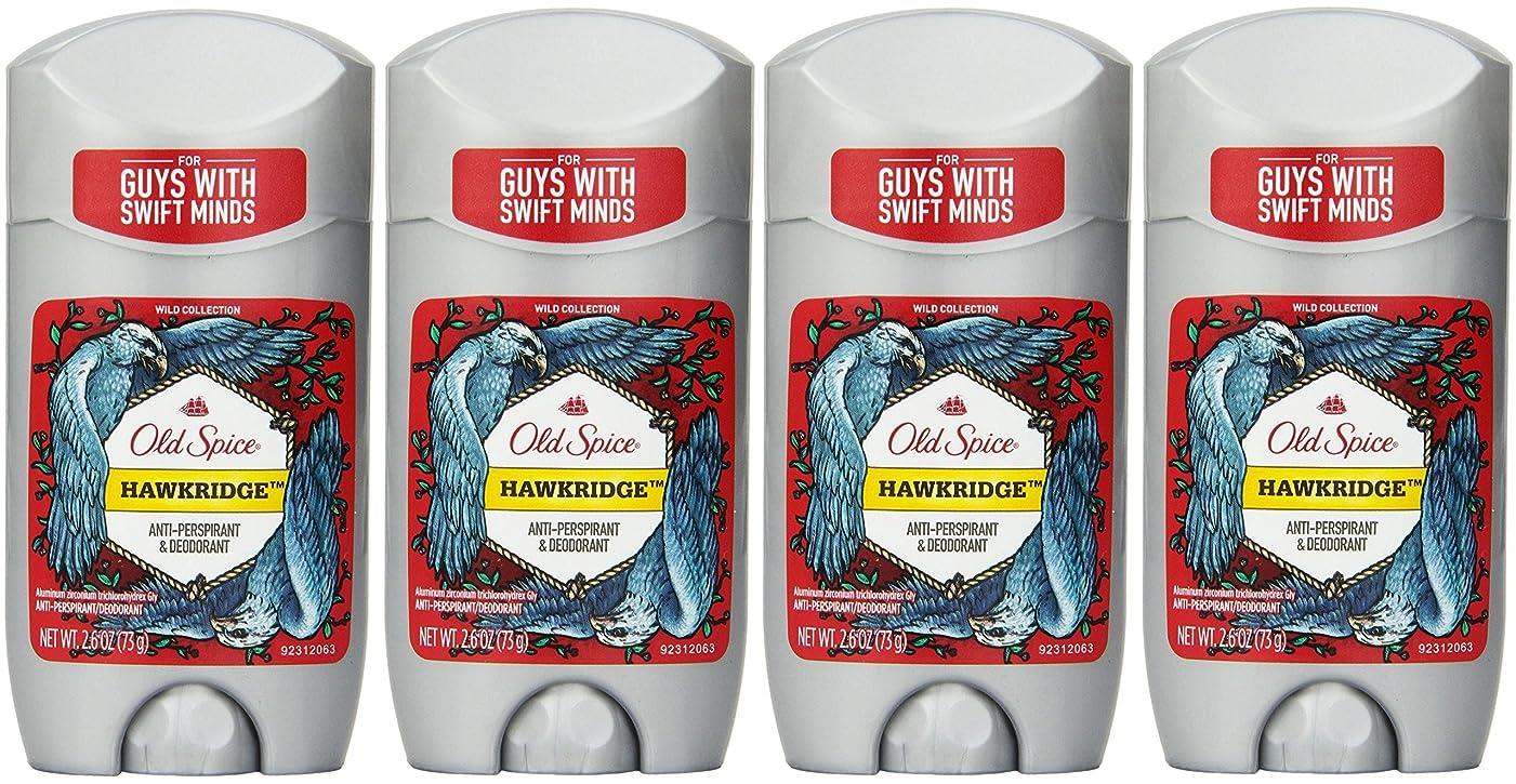 人スピーカー分子Old Spice ワイルドコレクションHawkridge香りメンズインビジブルソリッド制汗&デオドラント2.6オズ(4パック) 4パック 明確な