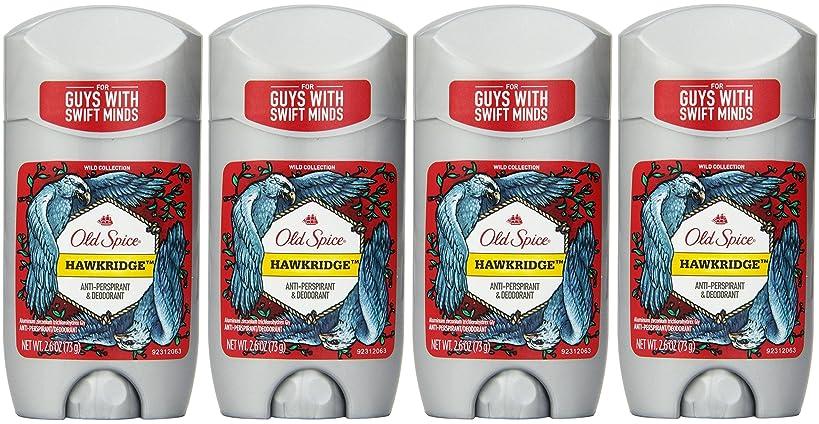 レッスンご予約ペナルティOld Spice ワイルドコレクションHawkridge香りメンズインビジブルソリッド制汗&デオドラント2.6オズ(4パック) 4パック 明確な