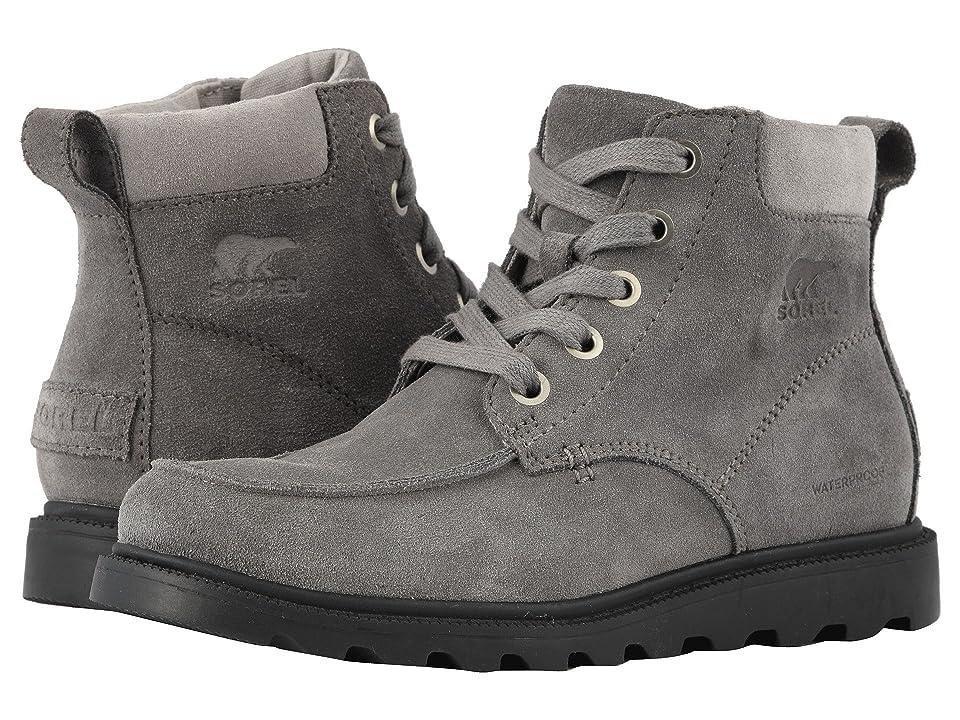 SOREL Kids Madsontm Moc Toe Waterproof (Little Kid/Big Kid) (Quarry/Chrome Grey) Boys Shoes