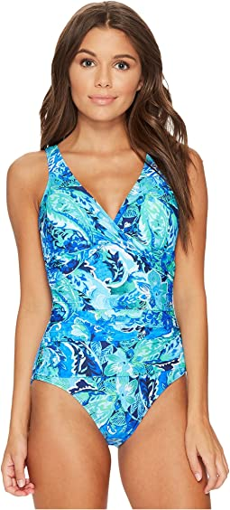 LAUREN Ralph Lauren - Exotic Paisley Twist Underwire One-Piece