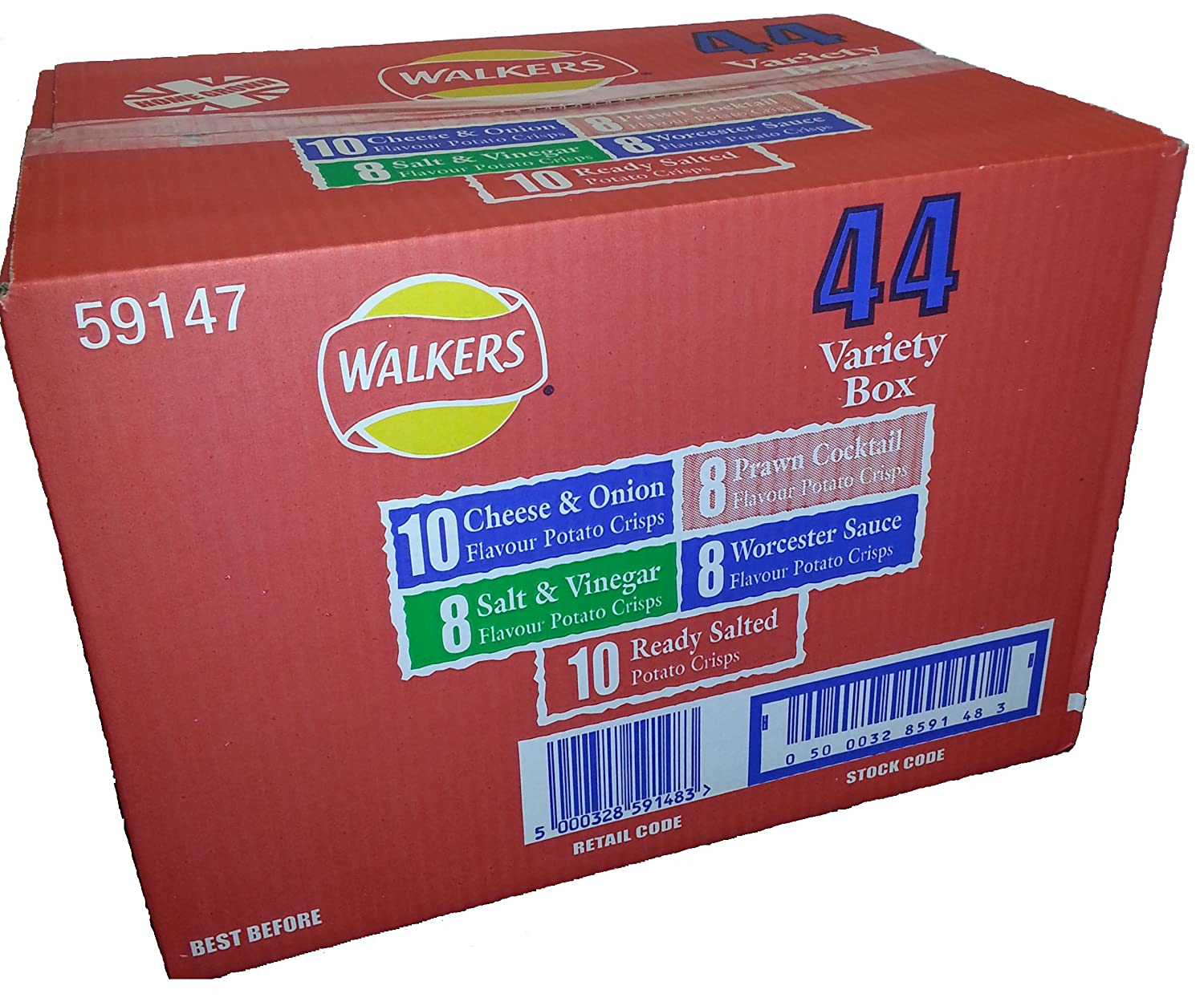 Walkers discount Crisps Factory outlet 6 Pack 44 Box pack Bumper variety