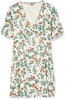 Tommy Jeans Tjw Summer Fitflare Dress Vestido, Rosa (Hawaii Print), XS para Mujer