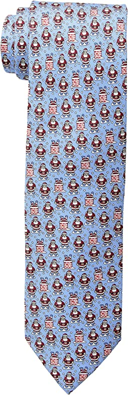 Santa Down Chimney Printed Tie