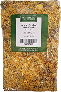 ORGANIC WHOLE CALENDULA FLOWERS 4 OZ Bag (Marigold) - USDA CERTIFIED 100% ORGANIC and KOSHER - Herbal Tea (Calendula Offic...