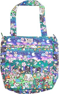 JuJuBe x Tokidoki Tote Bag, Be Light | Lightweight, Foldable Shoulder Bag, Multiple Pockets, Travel Friendly | Camp Toki