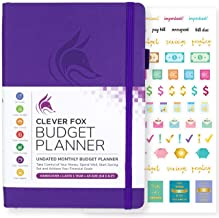 Clever Fox Budget Planner - Expense Tracker Notebook. Monthly Budgeting Journal, Finance Planner & Accounts Book to Take Control of Your Money. Undated - Start Anytime. A5 Size Purple Hardcover