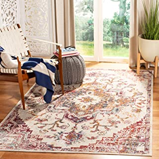 Safavieh CRS501F-4 Crystal Collection CRS501F Light Blue and Burgundy Area (4' x 6') Rug