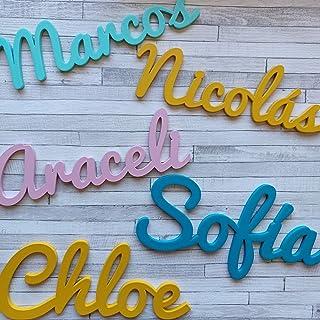Nombres Decorativos Personalizados de madera para Decoración del Hogar, Comunión, Boda, Cumpleaños y Habitación de Bebe in...