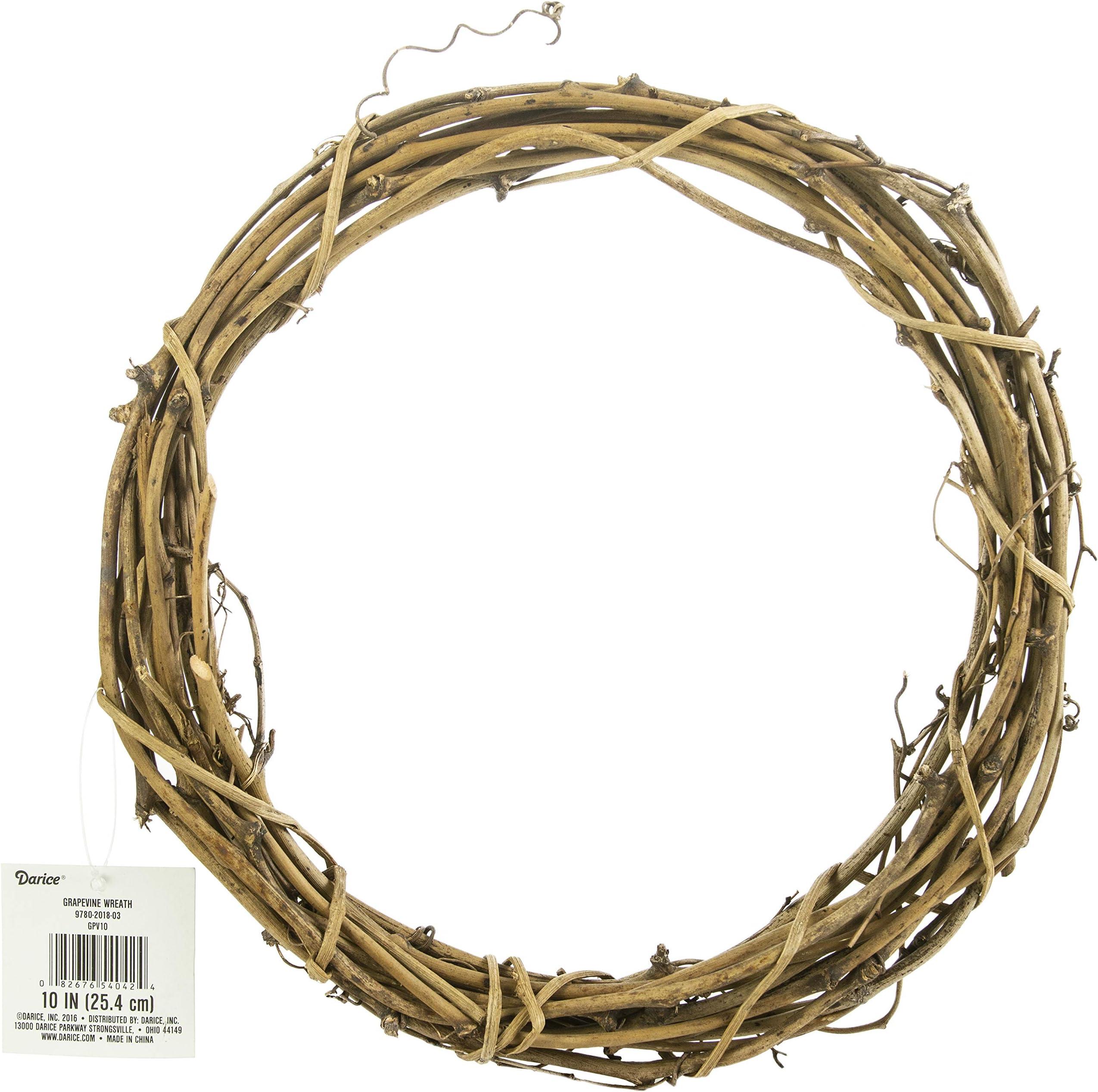 Darice Grapevine Wreath 10 inch Bulk GPV10 (3-Pack)