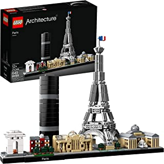 LEGO Architecture Skyline Collection 21044 Paris Skyline Building Kit With Eiffel Tower Model and other Paris City Architecture for build and display (649 Pieces)