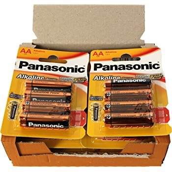 Panasonic POWER LR6 AA - Pack de 48 pilas alcalinas: Amazon.es ...