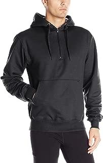 Men's Heavy Weight Quarter-Zip Fleece Hoodie