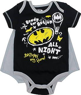 Warner Bros. DC Comics Justice League Baby Jungen Body und Cape Set - Batman & Superman