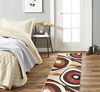 Home Dynamix Tribeca Slade Modern Runner Rug, Abstract Brown/Red 26