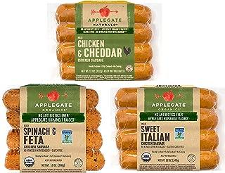 Applegate Chicken Sausage Variety Pack, 1 of each Flavor (3 Pack)