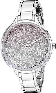 Nine West NW/2337OMSV - Reloj de pulsera para mujer, color plateado