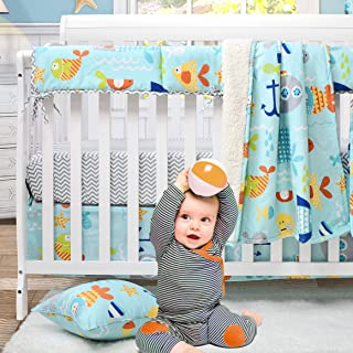 Fitted Crib Sheet Changing Pad Cover Gone Fishing Fishing Bedding Nautical Navy Fitted Sheet
