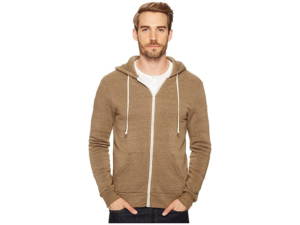 Alternative Rocky Zip Hoodie (Eco True Dark Olive) Men