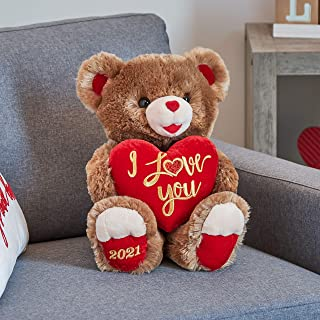 "2021 Valentine's Day 30th Anniversary Sweetheart Teddy Bear 18"" (Brown & Red)"