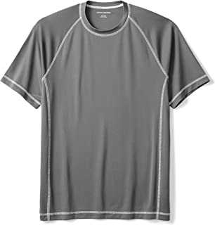 Men's Short-Sleeve Loose-Fit Quick-Dry UPF 50 Swim Tee