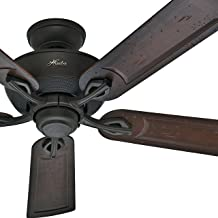 Hunter Fan 52in Outdoor ENERGY STAR Ceiling Fan in New Bronze with Rust Resistant Hardware, 5 Blade (Renewed)