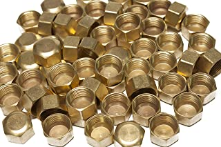 LTWFITTING 5/8-Inch Brass Compression Cap Stop Valve Cap,Brass Compression Fitting(Pack of 60)