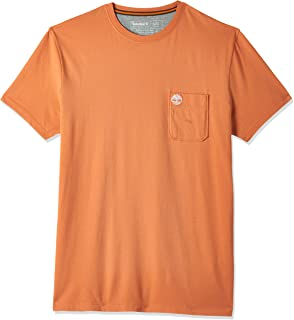 Timberland Men's Dunstan River Pocket T-Shirt, Color: Brown, Size: S