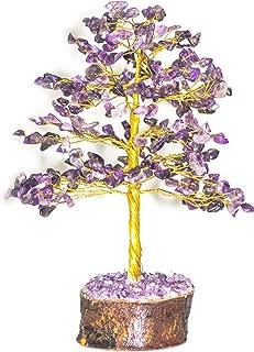 Crocon Amethyst Gemstone Money Tree Feng Shui Bonsai for Good Luck Energy Generator Reiki Healing Chakra Stone Balancing EMF Protection Spiritual Home Interior Office Decor Size: 10 Inch