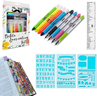 Mr. Pen- Bible Journaling Kit with Bible Highlighters and Pens No Bleed, Bible Tabs, Bible Stencils, Bible Ruler, Bible Ma...