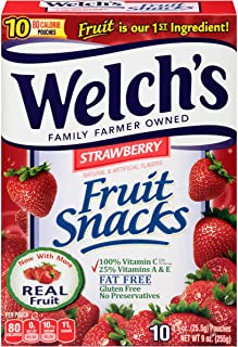 Welch's Fruit Snacks Strawberry .9 oz. (80 count)