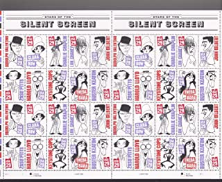 Silent Screen Stars Sheet of 40 x 29 Cent US Postage Stamp #2819-28