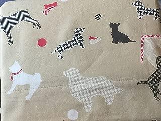 Martha Stewart Flannel Sheet Set Dog House Print Houndstooth Twin Size