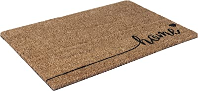 Entryways Just for Your Home Non Slip Coir Doormat, Brown, 60 x 1.4 x 40 cm