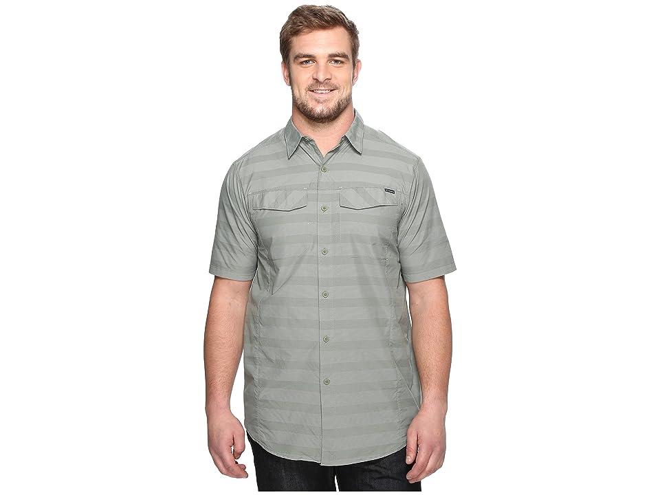 Columbia Silver Ridgetm Multi Plaid S/S Shirt Big (Cypress Stripe) Men