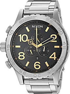 Nixon Men's 51-30 Chrono Japanese-Quartz Watch with Stainless-Steel Strap, Silver, 16 (Model: A0832730)