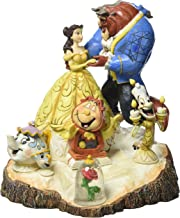 """Disney Traditions by Jim Shore Beauty and the Beast Carved by Heart Stone Resin Figurine, 7.75"""""""