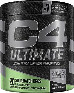 C4 Ultimate Pre Workout Powder Sour Batch Bros | Sugar Free Preworkout Energy Supplement for Men & Women | 300mg Caffeine ...