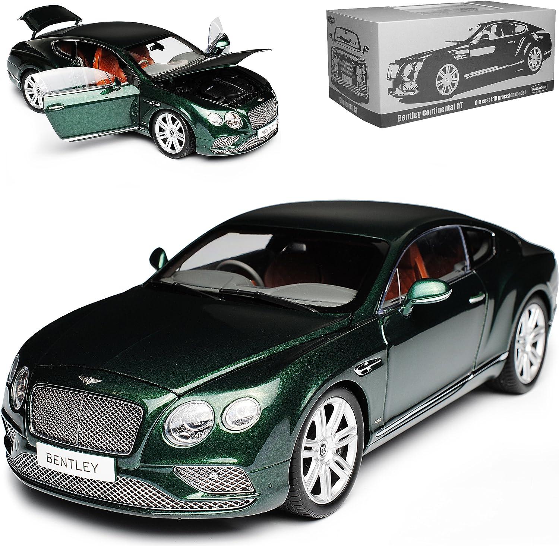 Paragon Bentley Continental GT Coupe Rechtslenker Dunkel Gruen 2. Generation 2011-2018 1 18 Modell Auto mit individiuellem Wunschkennzeichen