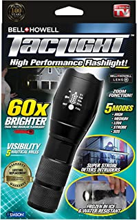 Bell + Howell 1307 Taclight High-Powered Tactical Flashlight with 5 Modes & Zoom Function (60x Brighter)