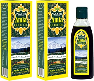 Amla Oil - Brahmi Oil - Blend of Brahmi and Amla Herbal Oil(Pack of 2 X 6.76 Ounces) - Vaadi Herbals