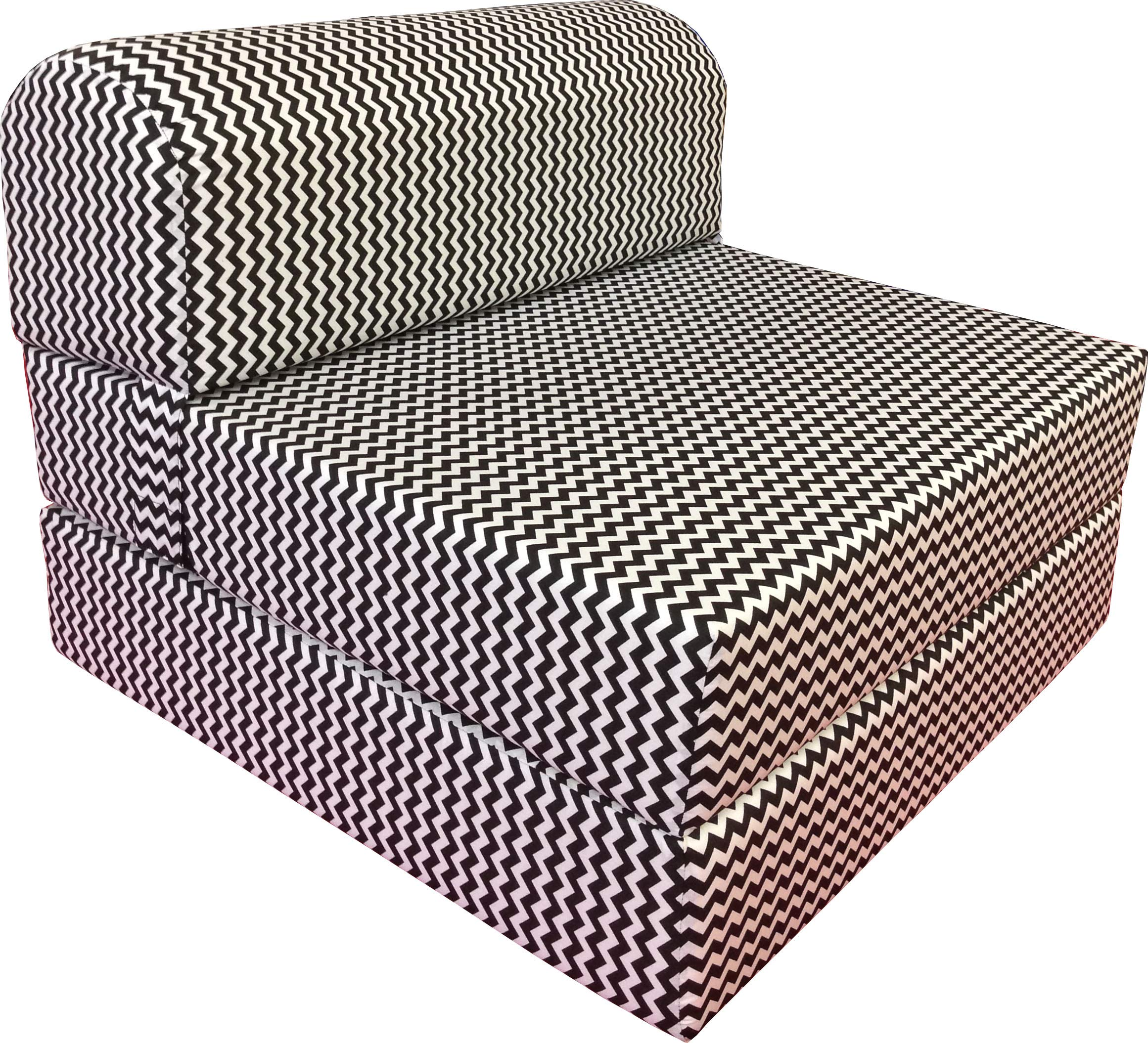 - Amazon.com: D&D Futon Furniture Black White Zig Zag Sleeper Chair