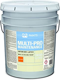 Latex Paint, White, Semi-Gloss, 5 gal, Multi-Pro Maintenance, Interior Paints for Rooms