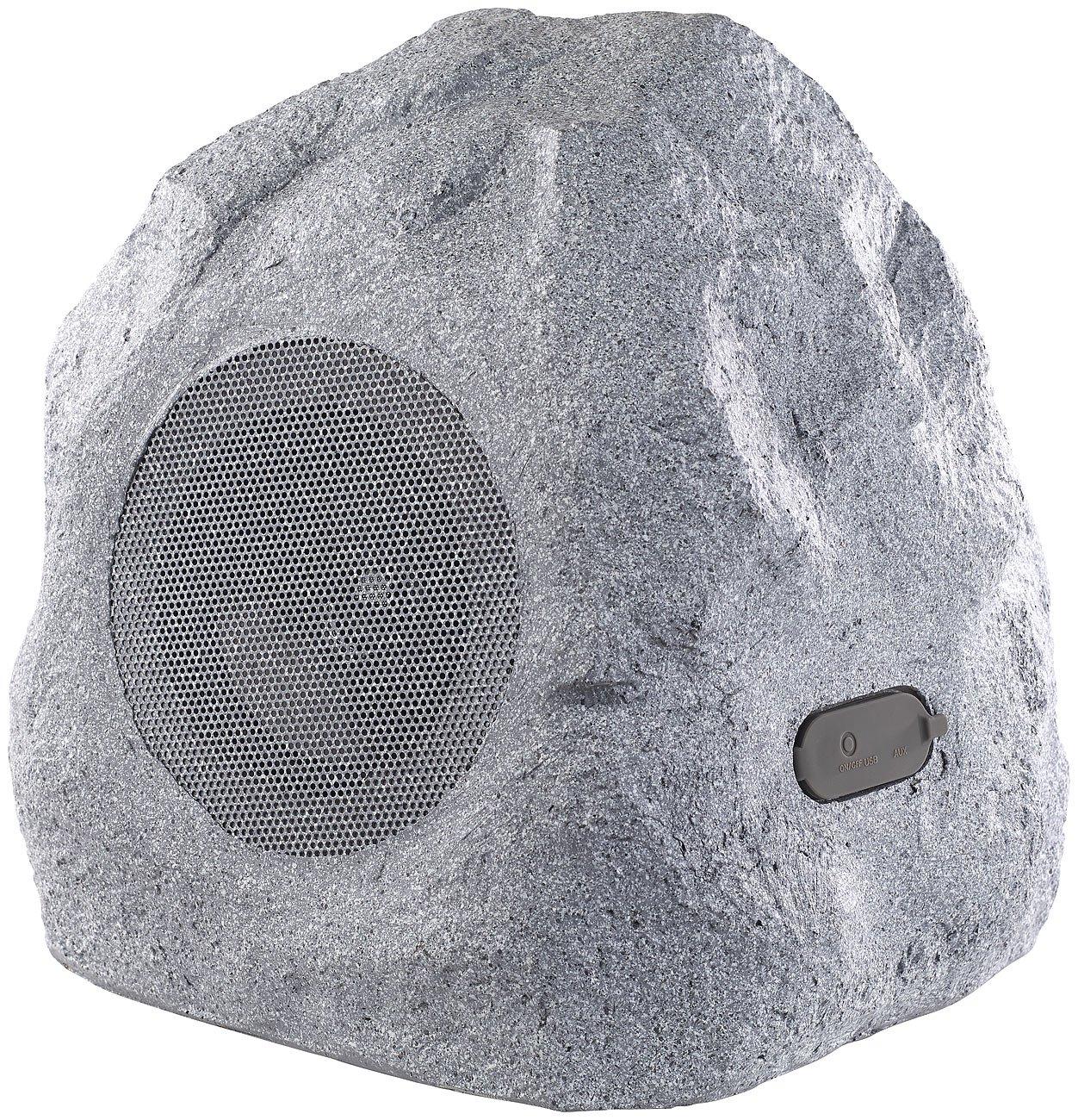 Auvisio - Altavoz para jardín (Bluetooth, 30 W, IPX4, con Bluetooth), diseño de piedra: Amazon.es: Electrónica