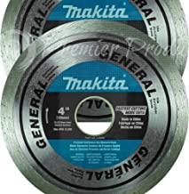 """Makita 2 Pack - 4"""" Continuous Diamond Blades For 4""""+ Grinders & Circular Saws - Precise Cutting For Tile, Porcelain & Stone - 5/8"""", 20mm & 7/8"""" Arbors"""