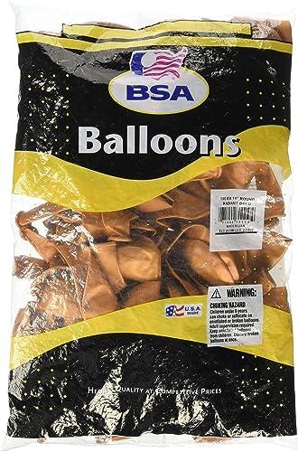 Ballon von America 100 rty Luftballons 27,9  rund Latex Metallic Radiant Gold